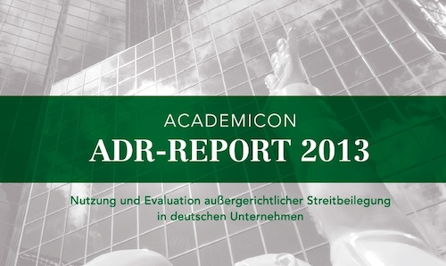 Academicon ADR-Report 2013